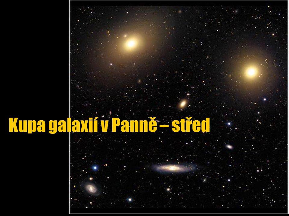 Kupa galaxií v Panně – střed