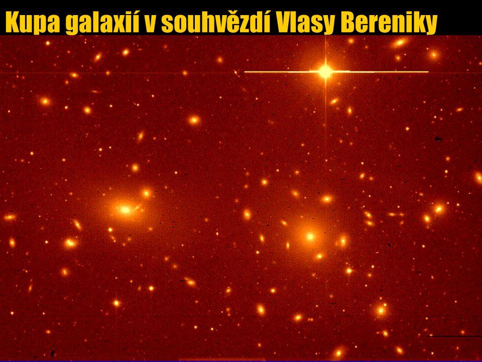 Kupa galaxií v souhvězdí Vlasy Bereniky