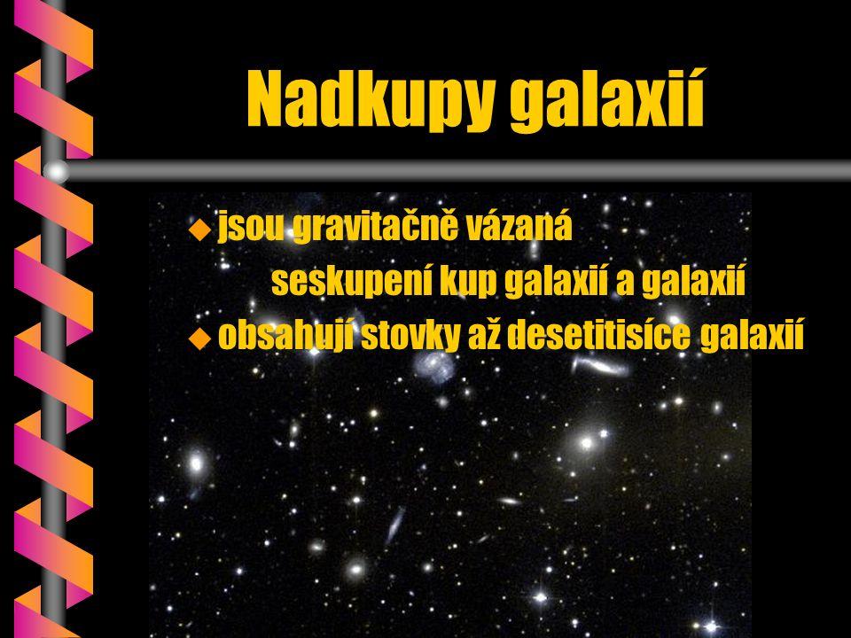 Nadkupy galaxií u u jsou gravitačně vázaná seskupení kup galaxií a galaxií u u obsahují stovky až desetitisíce galaxií