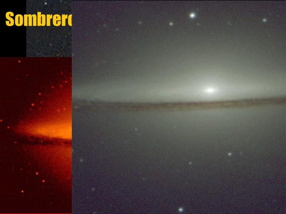 u u v souhvězdí Panny u u vzdálenost: 50 000 000 světelných let u u typ Sa u u v centru černá díra o hmotnosti 1 miliardy Sluncí Sombrero (M104, NGC 4594)