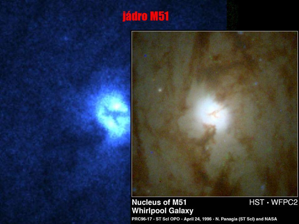u u v souhvězdí Honicích psů u u vzdálenost: 37 000 000 světelných let u u typ Sc Vírová galaxie (M51, NGC 5194) NGC 5195 M51 jádro M51