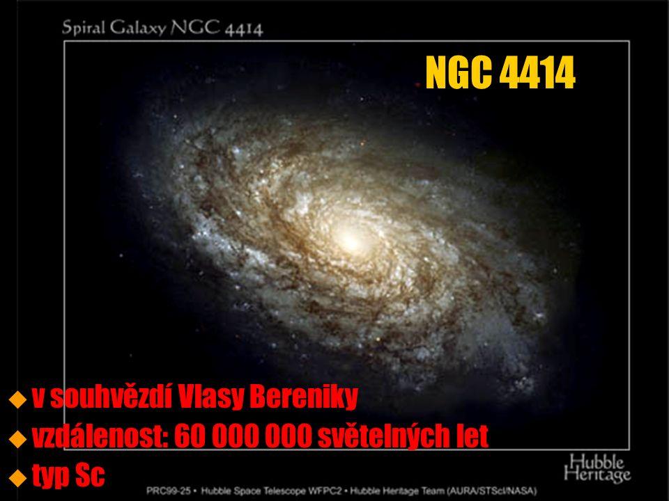 u u v souhvězdí Vlasy Bereniky u u vzdálenost: 60 000 000 světelných let u u typ Sc NGC 4414