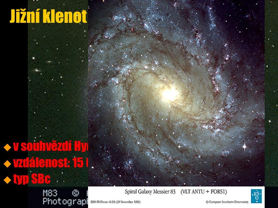 u u v souhvězdí Hydry u u vzdálenost: 15 000 000 světelných let u u typ SBc Jižní klenot (M83, NGC 5236)