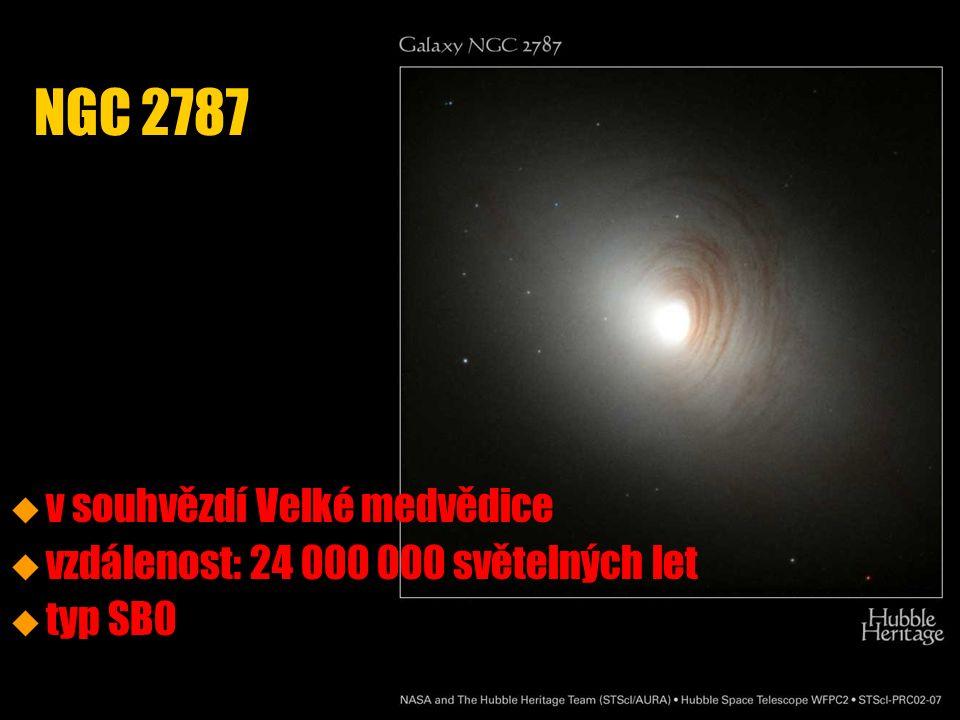 u u v souhvězdí Velké medvědice u u vzdálenost: 24 000 000 světelných let u u typ SB0 NGC 2787
