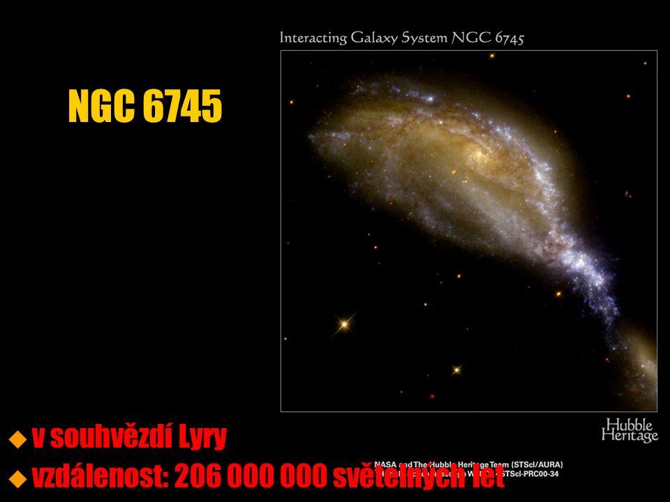 NGC 6745 u u v souhvězdí Lyry u u vzdálenost: 206 000 000 světelných let