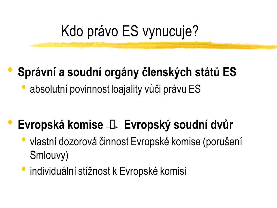 Kdo právo ES vynucuje.