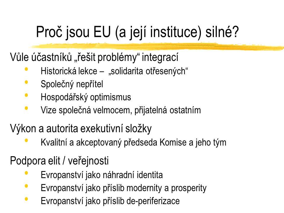 Proč jsou EU (a její instituce) silné.