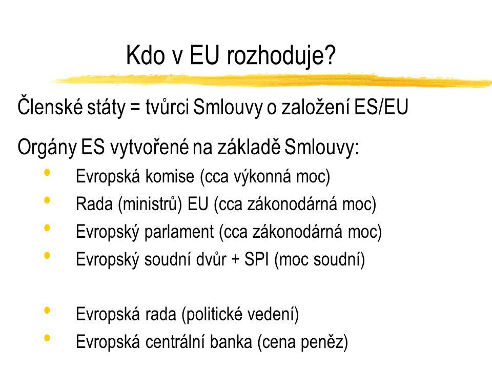 Kdo v EU rozhoduje.