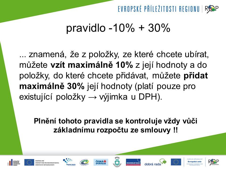 pravidlo -10% + 30%...