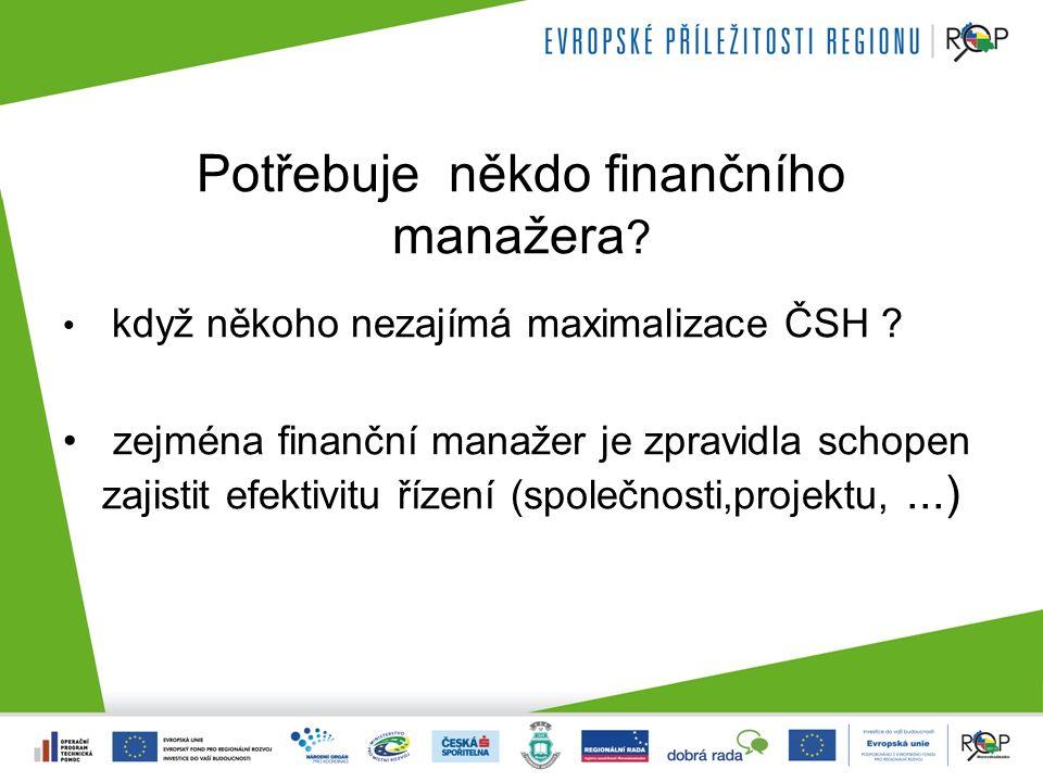 Finanční řízení zahrnuje účetnictví pro manažery controlling finanční analýzu investiční rozhodování (ČSH) řízení zásob, pohledávek, likvidity nákladové účetnictví a řízení nákladů cenotvorbu financování, optimalizaci struktury kapitálu, řízení pracovního kapitálu
