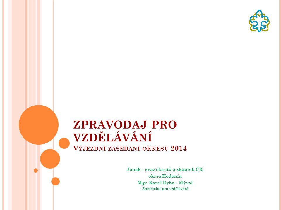 ZPRAVODAJ PRO VZDĚLÁVÁNÍ V ÝJEZDNÍ ZASEDÁNÍ OKRESU 2014 Junák – svaz skautů a skautek ČR, okres Hodonín Mgr.
