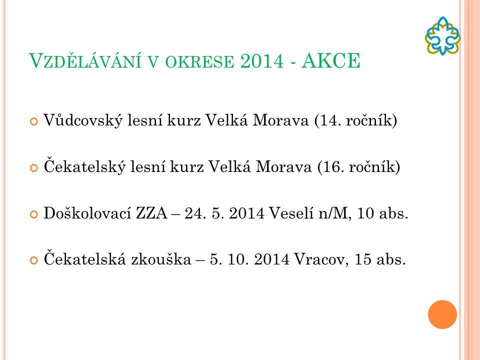 V ZDĚLÁVÁNÍ V OKRESE 2014 - AKCE Vůdcovský lesní kurz Velká Morava (14.