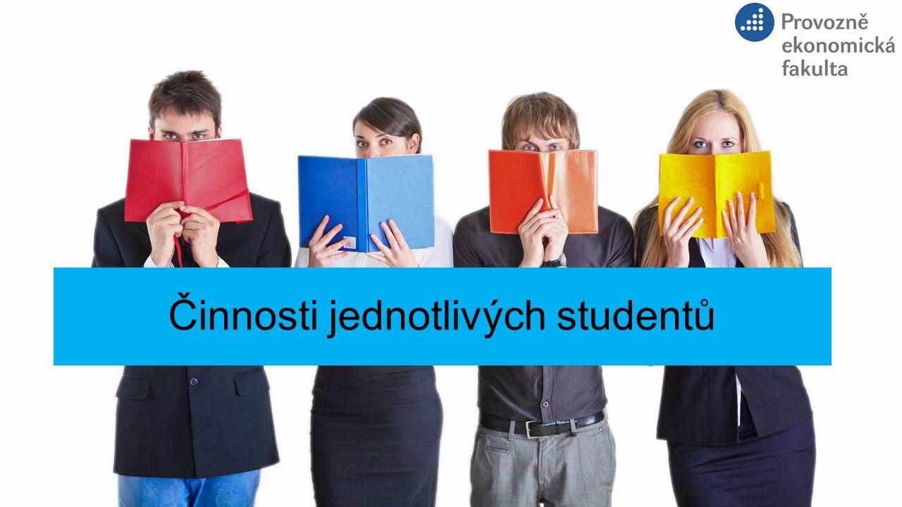 Činnosti jednotlivých studentů
