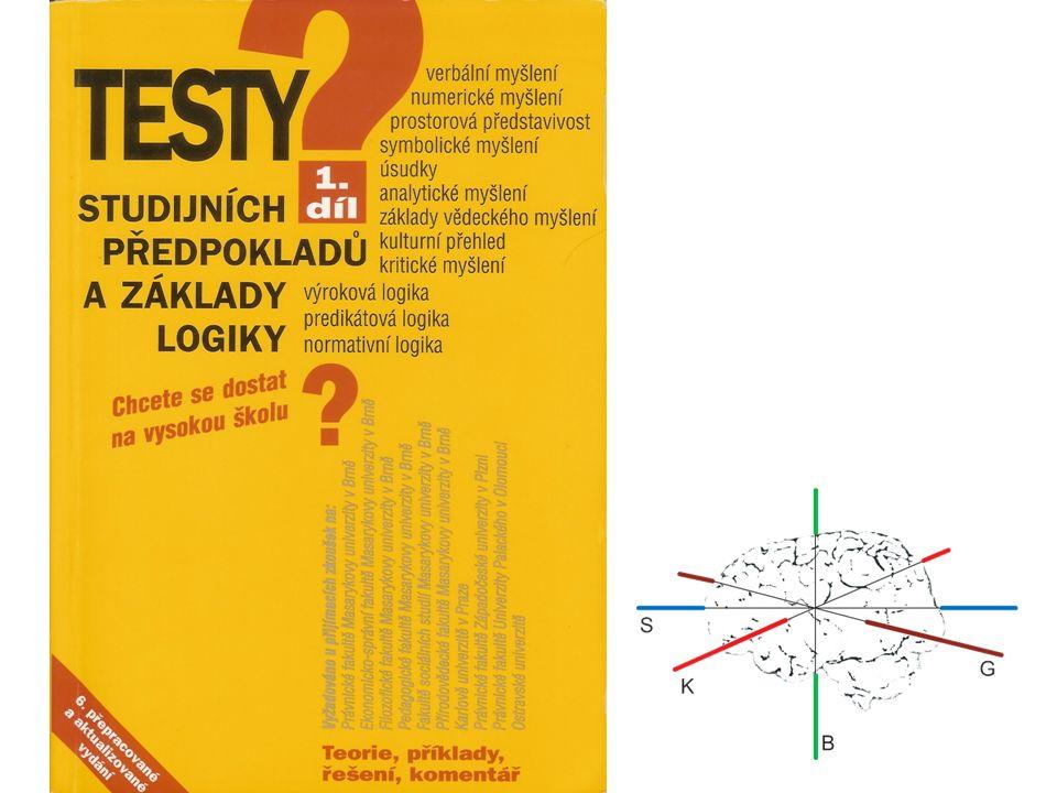 B.Hledání rovnováhy 1.levá - logická, racionální vědecká 2.pravá - syntetizující, intuitivní, obrazná umělecká