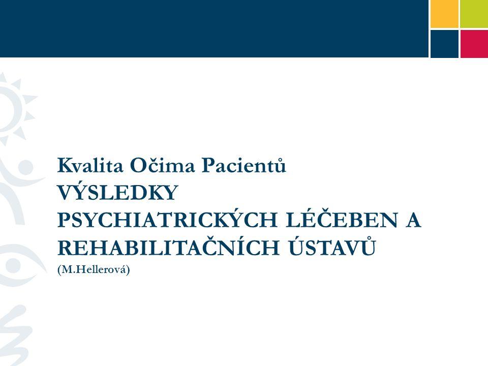 Kvalita Očima Pacientů VÝSLEDKY PSYCHIATRICKÝCH LÉČEBEN A REHABILITAČNÍCH ÚSTAVŮ (M.Hellerová)