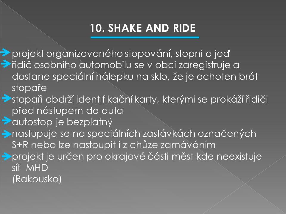  1.Popiš systém Park and ride.  2.Popiš systém Park and go.