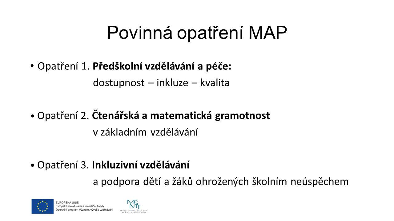 Povinná opatření MAP Opatření 1.