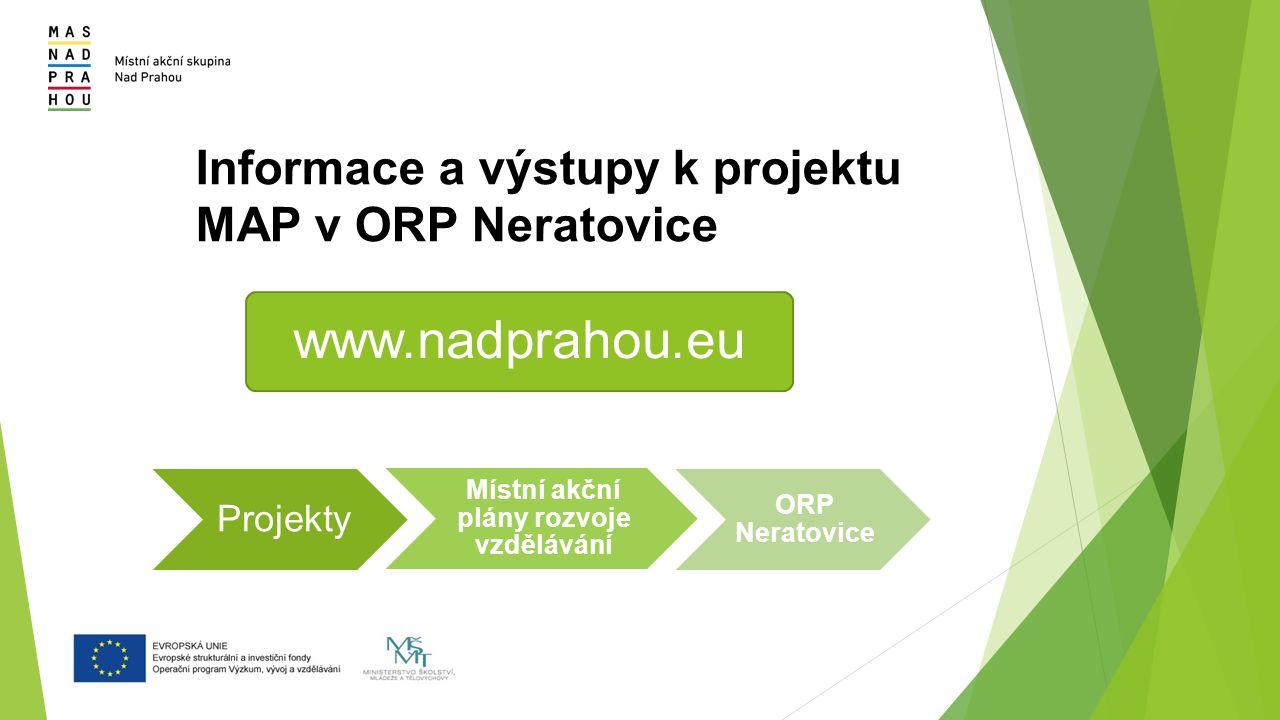 Informace a výstupy k projektu MAP v ORP Neratovice www.nadprahou.eu Projekty Místní akční plány rozvoje vzdělávání ORP Neratovice