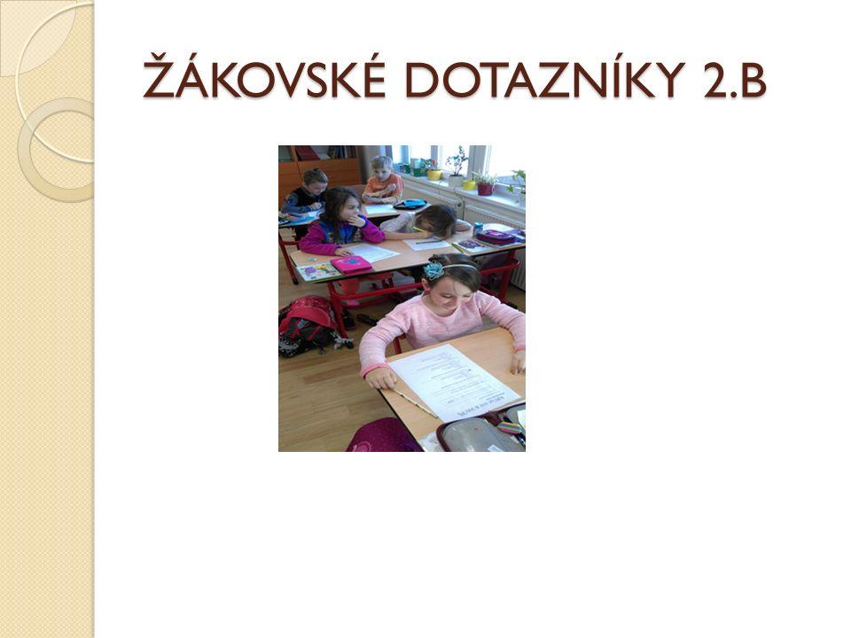 ŽÁKOVSKÉ DOTAZNÍKY 2.B