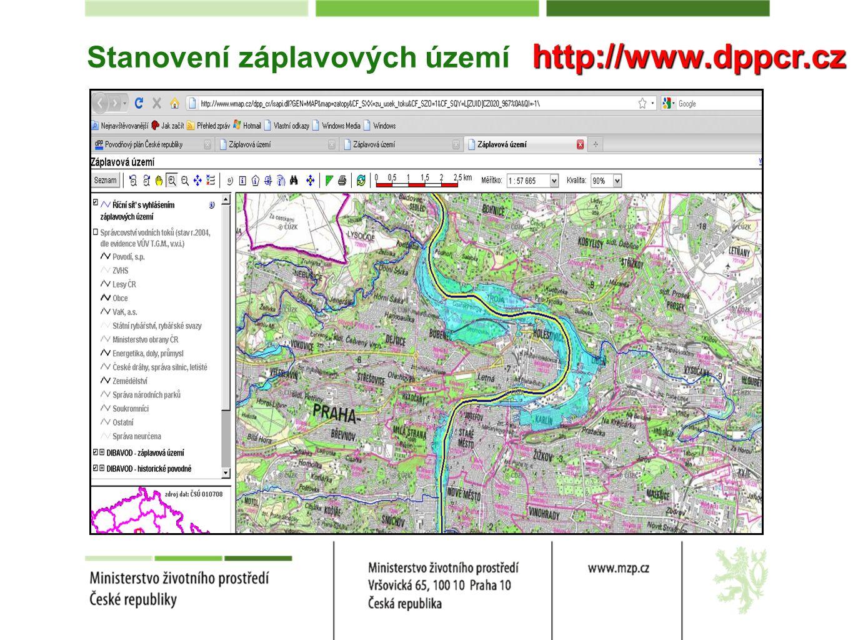 Stanovení záplavových území http://www.dppcr.cz