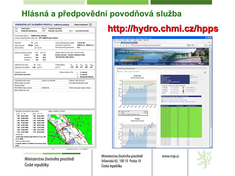Hlásná a předpovědní povodňová služba http://hydro.chmi.cz/hpps