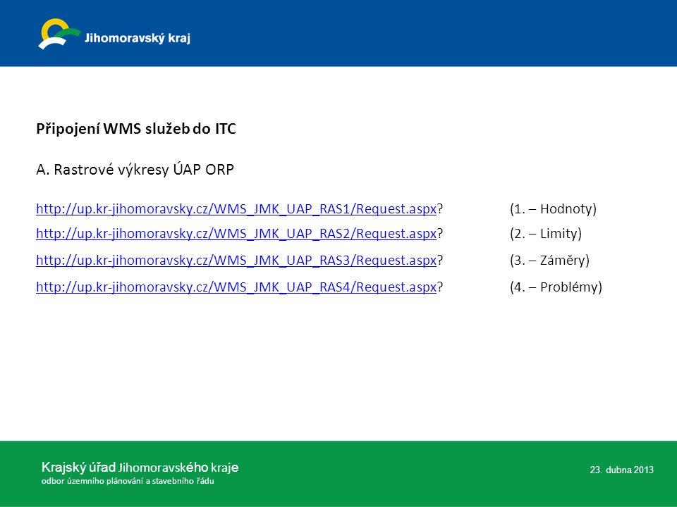Připojení WMS služeb do ITC A.