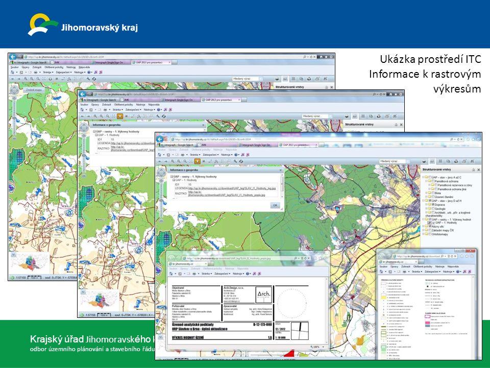Ukázka prostředí ITC Informace k rastrovým výkresům 23.