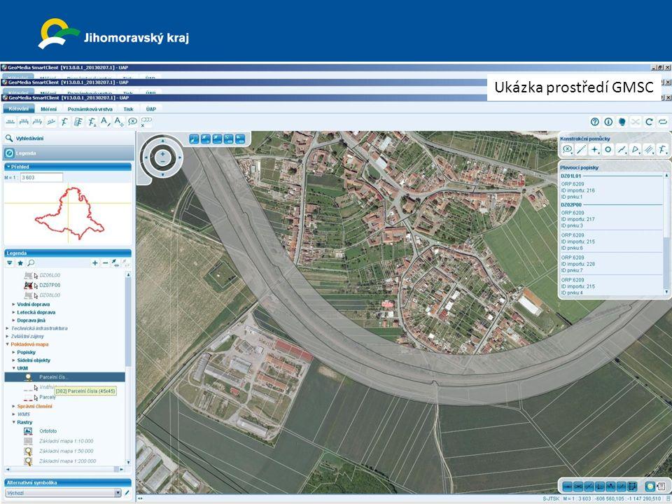 23. dubna 2013 Krajský úřad Jihomoravsk ého kraj e odbor územního plánování a stavebního řádu Ukázka prostředí GMSC