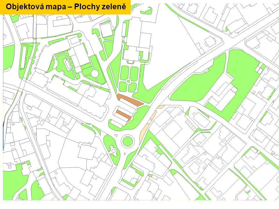 Objektová mapa – Plochy zeleně