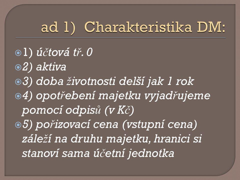  01.– DNM  02. – DHM odpisovaný  03. – DHN neodpisovaný  06.