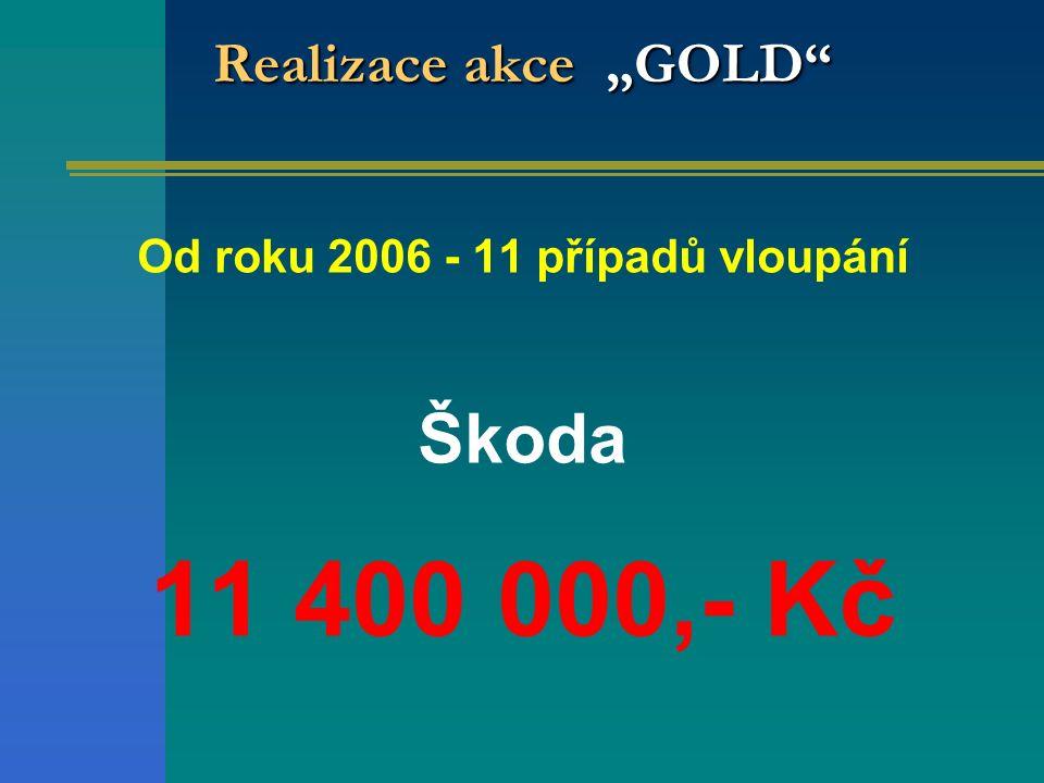 Od roku 2006 - 11 případů vloupání Škoda 11 400 000,- Kč