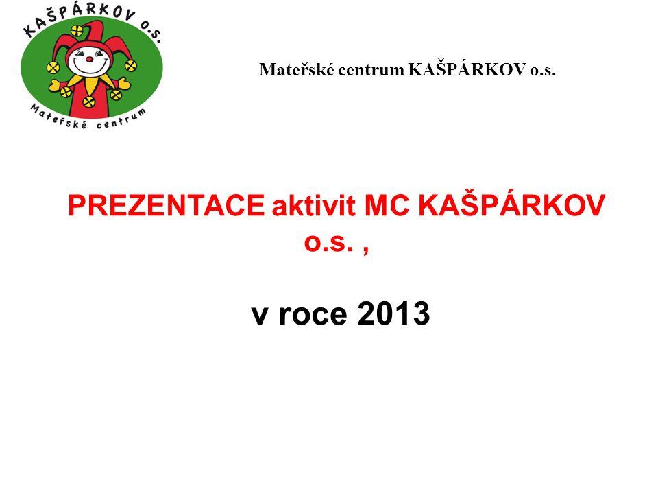PREZENTACE aktivit MC KAŠPÁRKOV o.s., v roce 2013 Mateřské centrum KAŠPÁRKOV o.s.