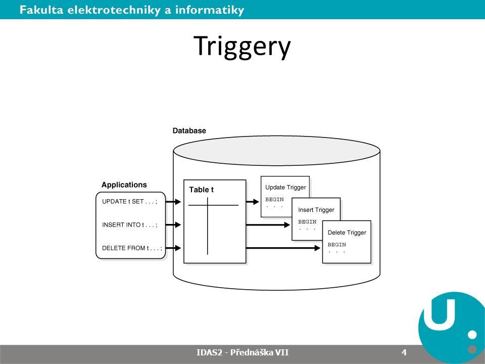 Triggery IDAS2 - Přednáška VII 4