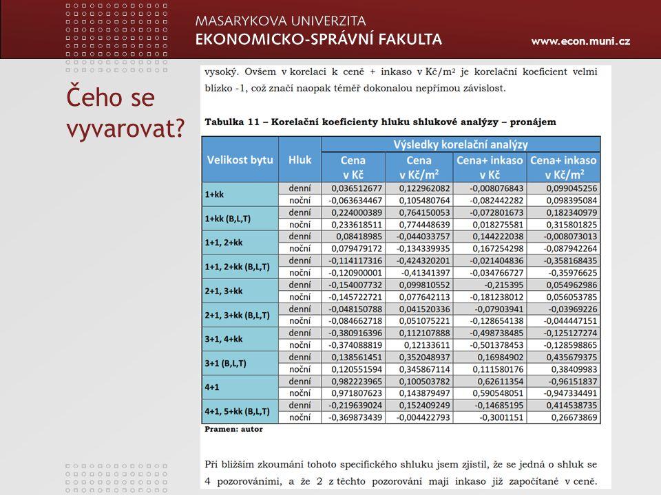 www.econ.muni.cz Čeho se vyvarovat?