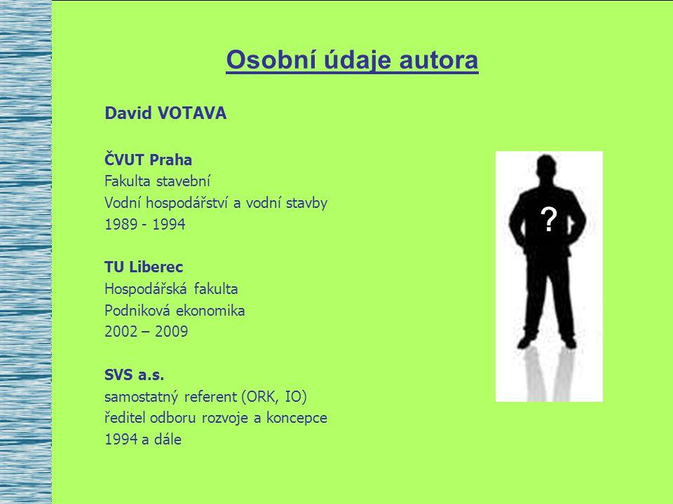 Obsah přednášky 1.Úvod – motivace přednášky 2.Základní informace o společnosti SVS a.s.