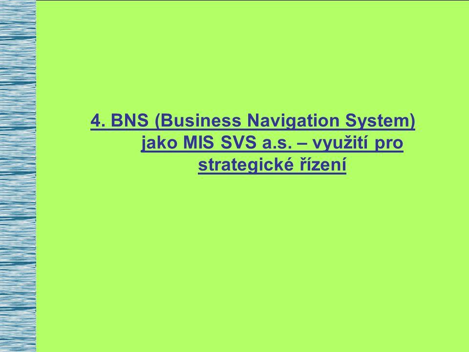4. BNS (Business Navigation System) jako MIS SVS a.s. – využití pro strategické řízení
