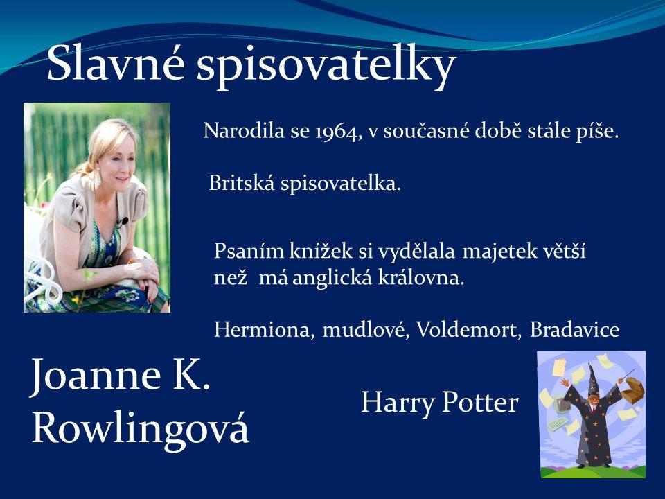 Slavné spisovatelky Žila v 19.století. Křestní jméno si v dospělosti změnila za ryze české.