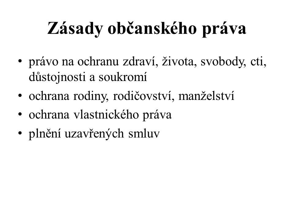 Občanský zákoník hlavní pramen občanského (soukromého) práva nejobsáhlejší zákon v českém právním řádu obsahuje 3046 paragrafů: - obecná část -rodinné právo ( např.