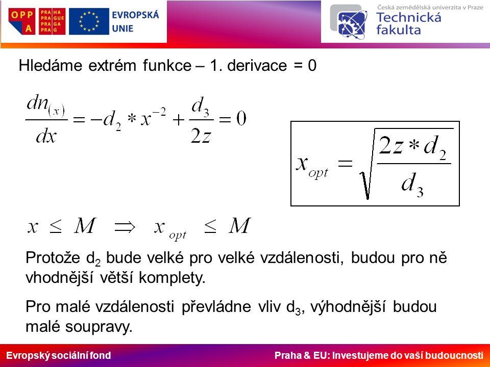 Evropský sociální fond Praha & EU: Investujeme do vaší budoucnosti Hledáme extrém funkce – 1.
