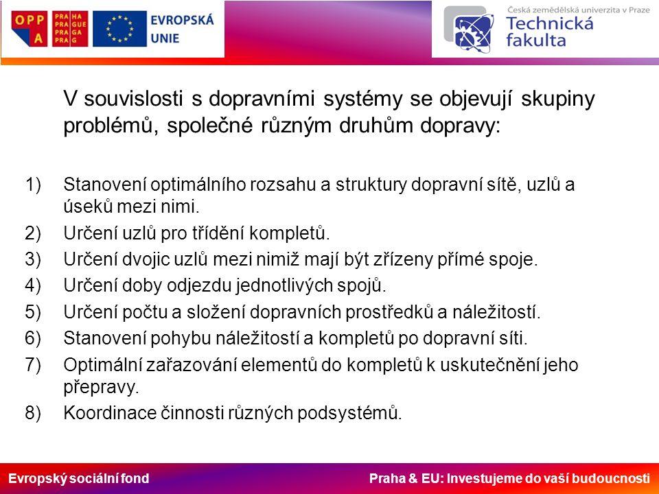 Evropský sociální fond Praha & EU: Investujeme do vaší budoucnosti Dopravní síť – je tvořena z uzlů a úseků.