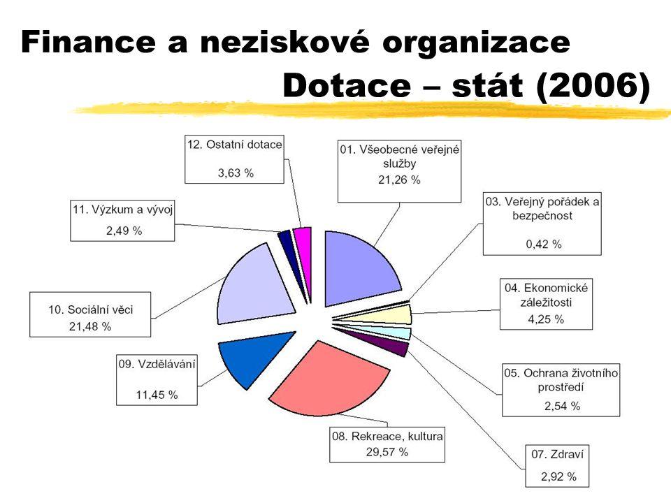 31 Finance a neziskové organizace Dotace – stát (2006)