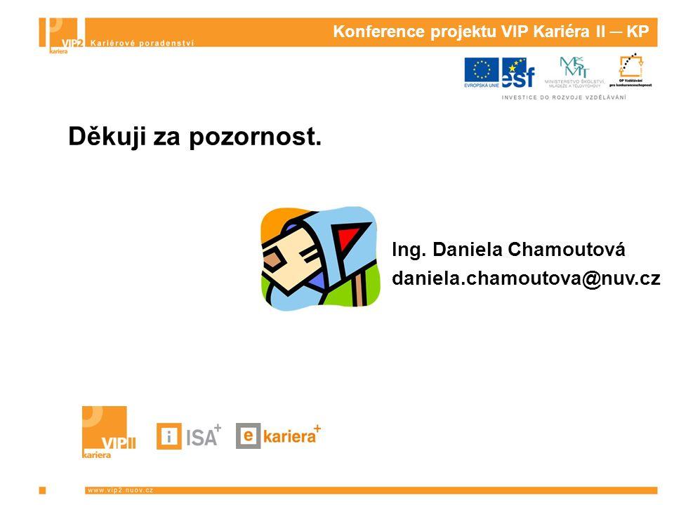 Konference projektu VIP Kariéra II ─ KP Děkuji za pozornost.