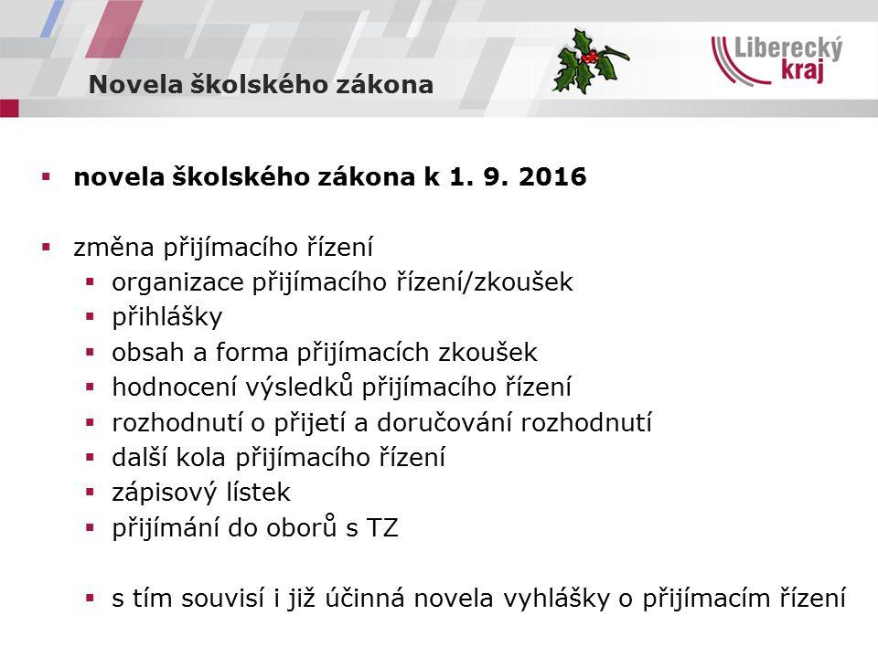 Novela školského zákona  novela školského zákona k 1.