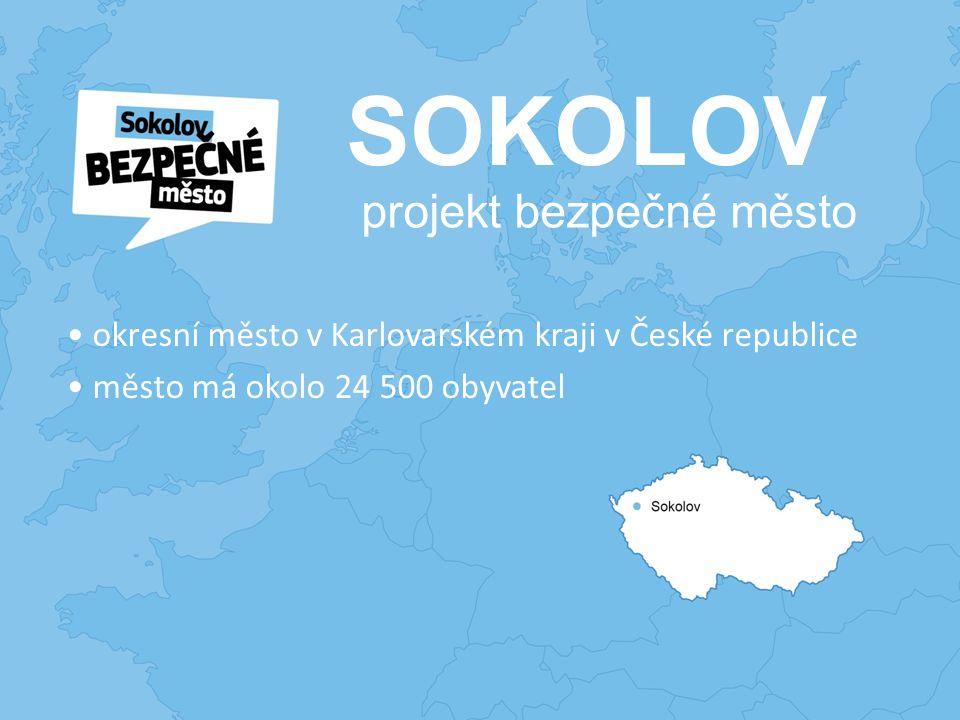 SOKOLOV okresní město v Karlovarském kraji v České republice město má okolo 24 500 obyvatel projekt bezpečné město