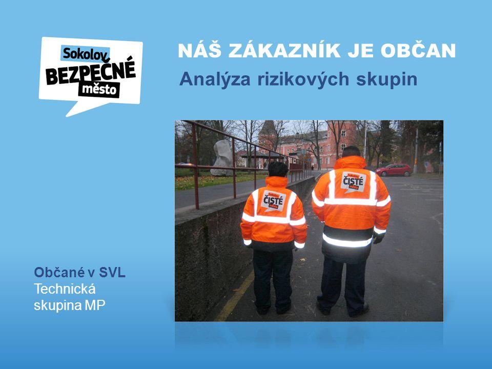 NÁŠ ZÁKAZNÍK JE OBČAN Analýza rizikových skupin Občané v SVL Technická skupina MP