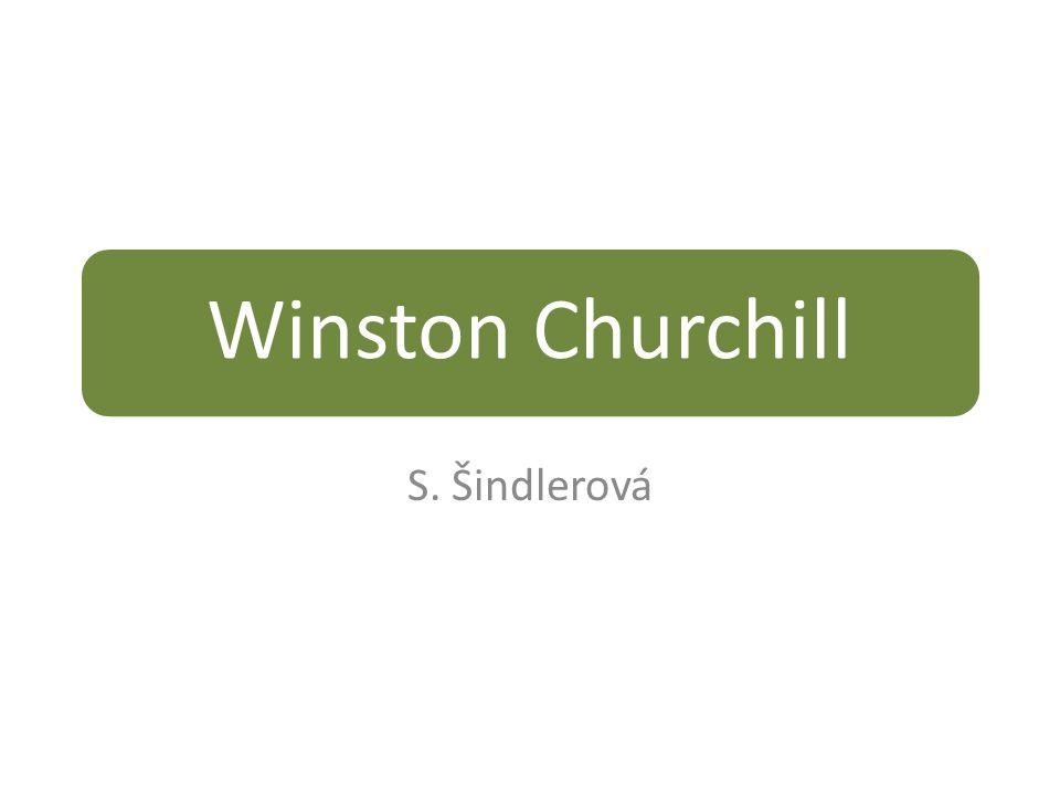 Winston Churchill S. Šindlerová
