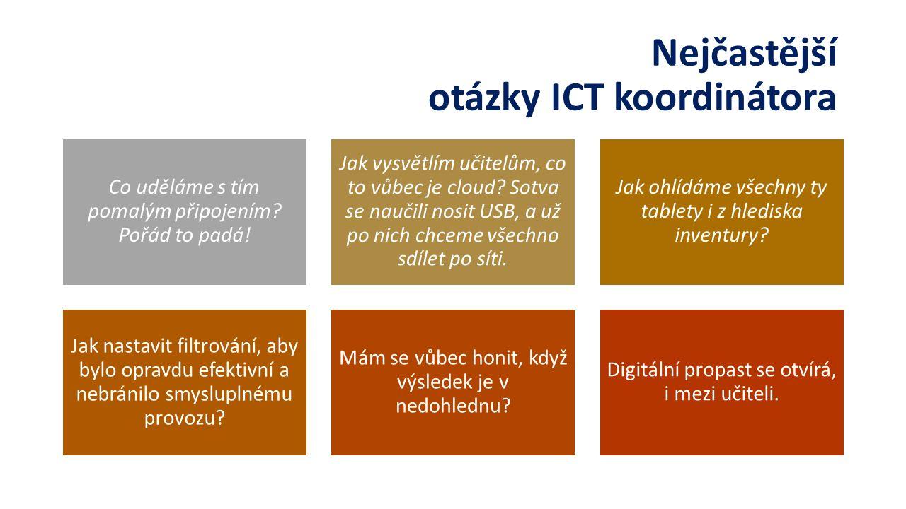 Nejčastější otázky ICT koordinátora Co uděláme s tím pomalým připojením.