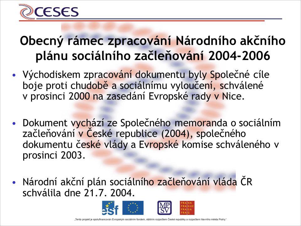Východiskem zpracování dokumentu byly Společné cíle boje proti chudobě a sociálnímu vyloučení, schválené v prosinci 2000 na zasedání Evropské rady v Nice.