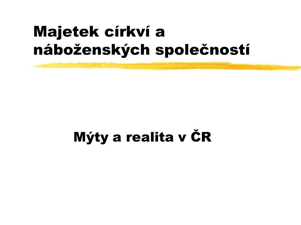 Majetek církví a náboženských společností Mýty a realita v ČR