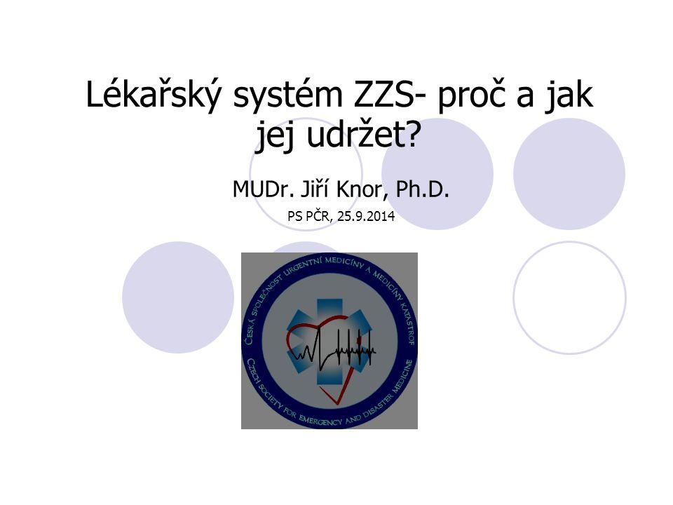 Lékařský systém ZZS- proč a jak jej udržet MUDr. Jiří Knor, Ph.D. PS PČR, 25.9.2014